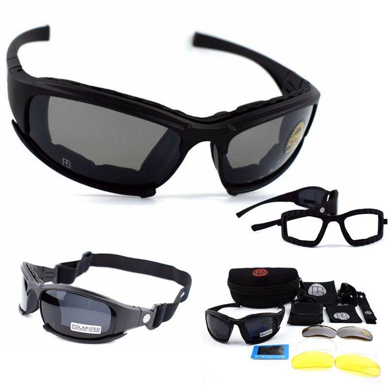 Lunettes tactiques X7 lunettes de soleil polarisées Airsoft Paintball randonnée militaire lunettes chasse tir lunettes avec 4 lentilles