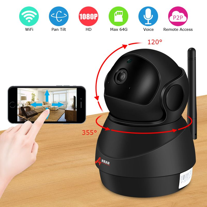 ANRAN WIFI Network IP Camera 1080P Wireless Audio Record Baby Monitor HD CCTV Camera Night Vision Indoor Surveillance Camera