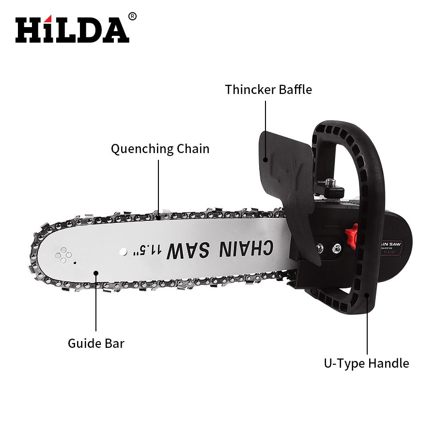 HILDA Multifunction Electric Chain Saw Converter Bracket DIY Set For 100mm 4