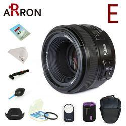 Yongnuo YN50mm lente de enfoque fijo F1.8 enfoque automático de gran apertura para Nikon Canon