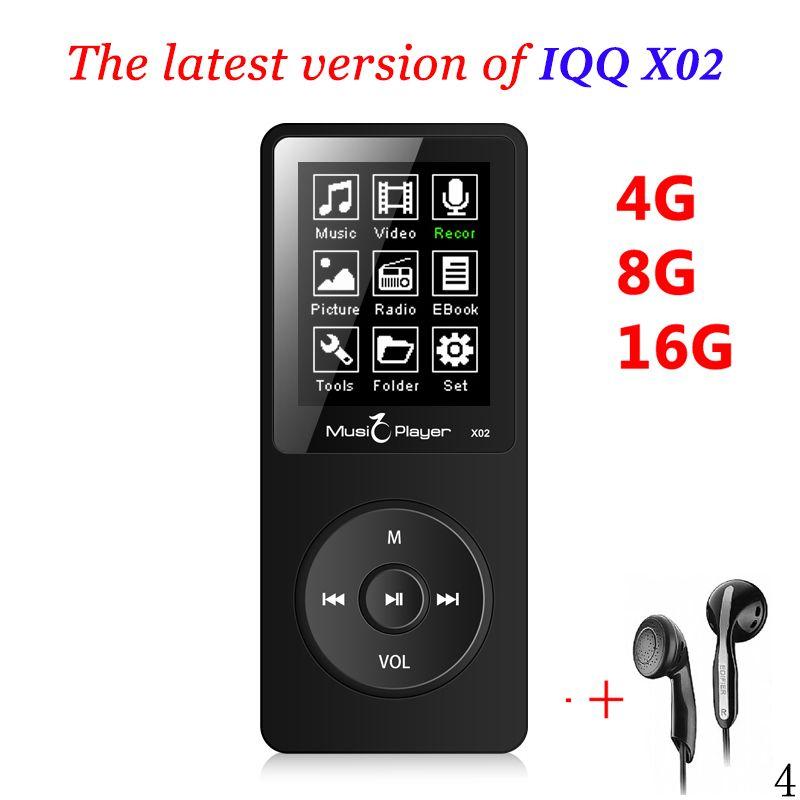 IQQ X02 Mini usb MP3 Player 16gb With Built-in Speaker hifi speaker mp3 player mp 4 Player 16gb with radio fm ruizu mp3-player