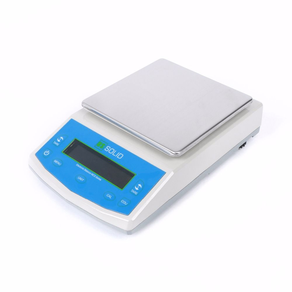 U.S. Solid 5000 x 0.01g Balance Digital Precision Electronic Scale CE Certificate 110V/220-240V