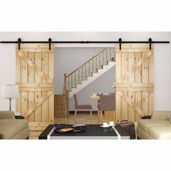 150cm/183cm/200cm/244cm/300cm/366cm/400cm  Soft Closing DIY Heavy Duty Double Modern Wooden Sliding Barn Door Hardware Track Kit