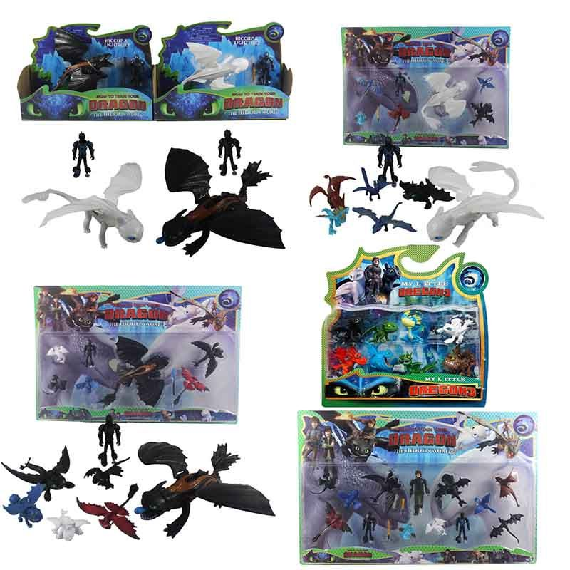 How To Train Your Dragon 3 Toothless Cartoon PVC Figures Action Figure Toys Kids Collection Ornaments Kids Xmas Gift