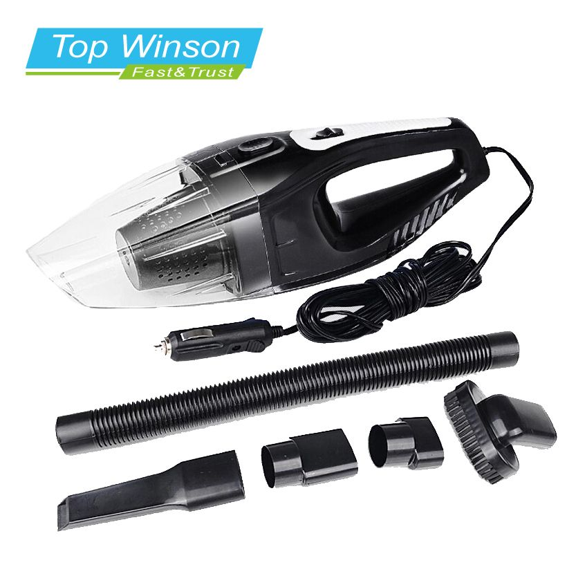 New 120W Portable Car Vacuum Cleaner Wet And Dry Dual Use Auto Cigarette Lighter Hepa Filter 12V Black