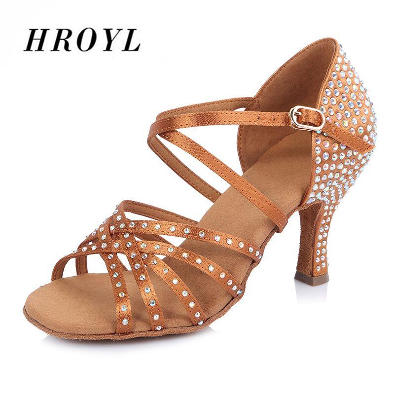 The New diamond women adult shoes Latin dance shoes Satin Tango Ballroom dance shoes High heels