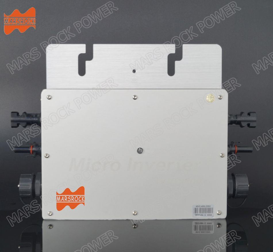 22-50V DC to AC 110V or 220V Waterproof IP65 High Efficiency Pure Sine Wave 600W MPPT Grid Tie Micro Inverter