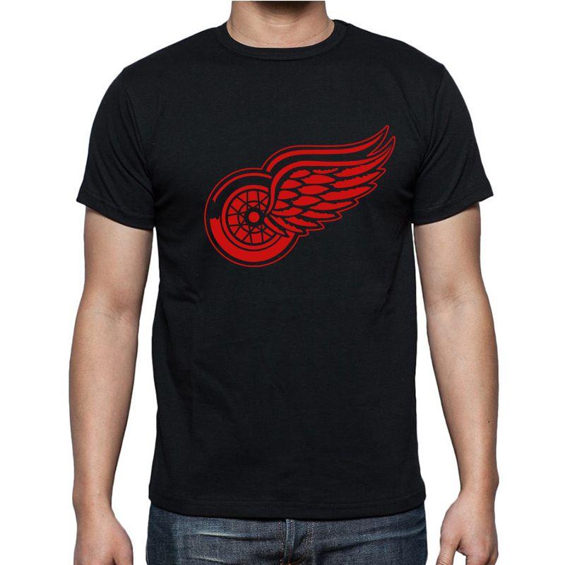 Nouveau Detroit Red Wings T-shirt coton grand et grand Logo mode ailes manches courtes hip hop T-shirt hommes Camisa XS-2XL