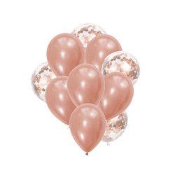 Oro rosa confeti globo látex nupcial/La ducha de bebé DIY amor boda decoración fiesta de cumpleaños Globos niños Juguetes