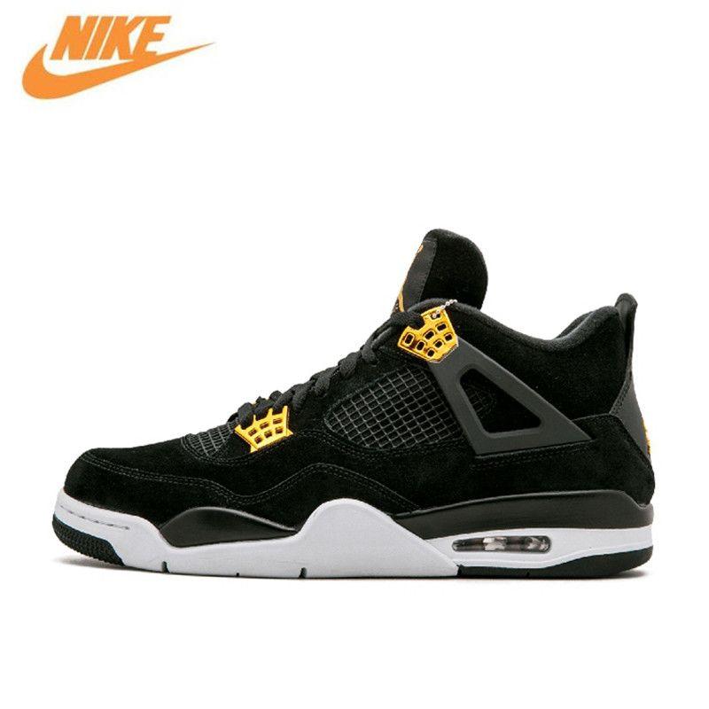 Nike Оригинал Новое поступление Аутентичные Air Jordan 4 роялти AJ4 дышащая мужская баскетбольная обувь спортивные кроссовки 308497-032