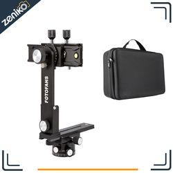 New 4th Generation! Fotomate Pro Panoramic Camera Tripod Kit Head Gimbal Bracket Plate Rail Slider 360 Degree Rotated With Bag