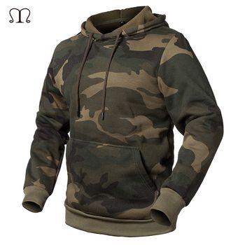 2018 Camouflage Hoodies Men Military Style Fleece Hooded Coat Casual Camo Hoody Sweatshirt EUR/ US Size Warm Thick Tracksuit