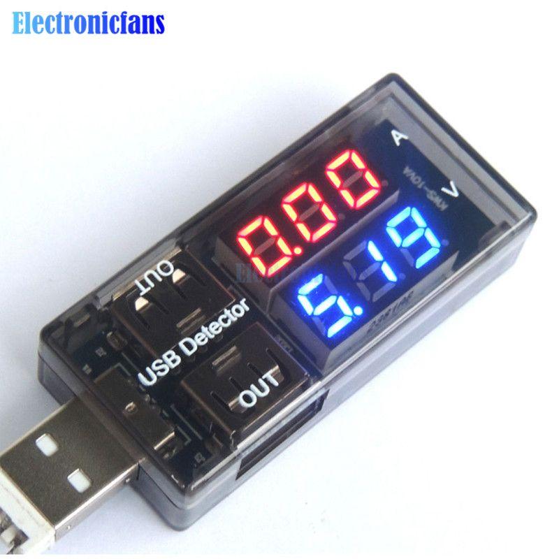 Hohe Präzision! 0-2.5A 3-7,5 V Usb-ladegerät Spannung Strom Meter Handliche Voltmeter Amperemeter Batterie Tester für Arduino