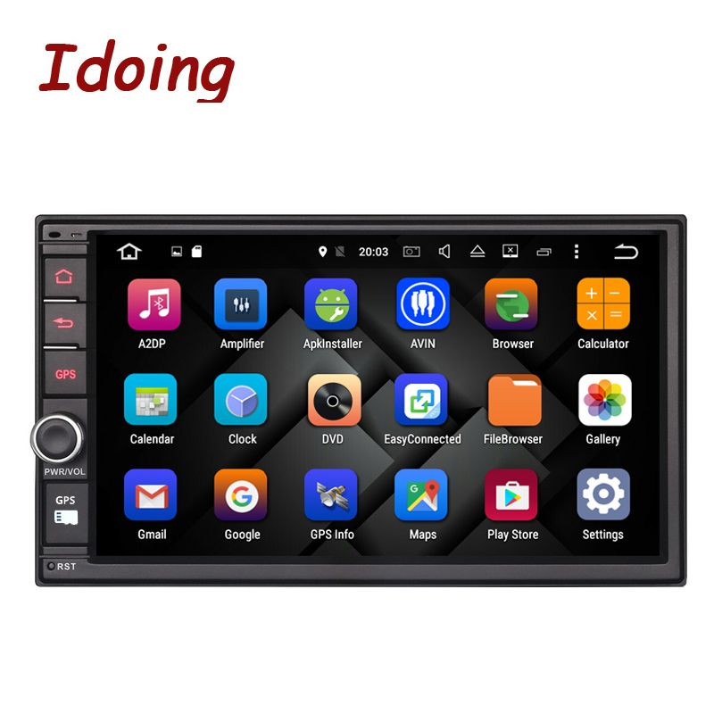 Idoing 2GB RAM Steering-Wheel Universal 2Din Android 6.0 Car DVD Multimedia Player GPS Built-in 3G Dangle 1024*600 Radio wifi