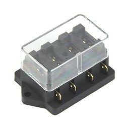 1 pc 4 Way Circuit Standard ATC Lame Porte-Fusible 250 V sans Fusible Mayitr Pour Voiture Auto Accessoires