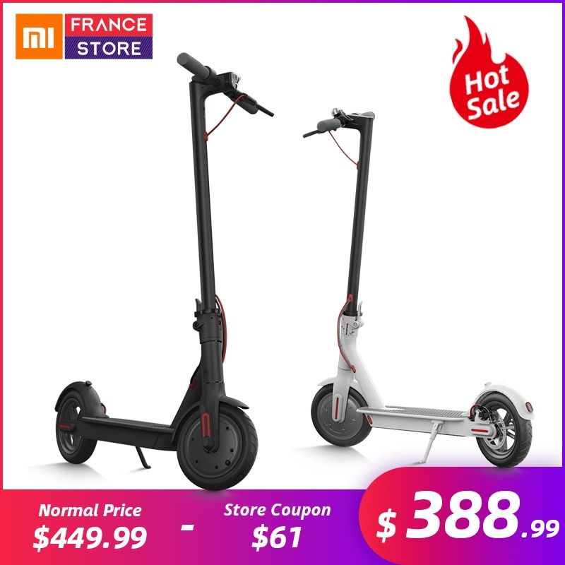 Original Xiaomi Scooter Mijia M365 Smart Electric Scooter 2 Wheels Skate Board Adult Mini Foldable Bike Hoverboard 30km with APP