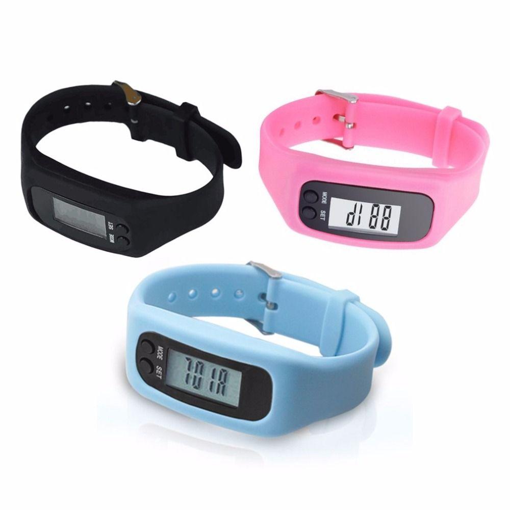 LCD Smart Armbanduhr Armband Schrittzähler Sport Monitor Lauf Ausübung Schrittzähler Fitness Silikon-armband