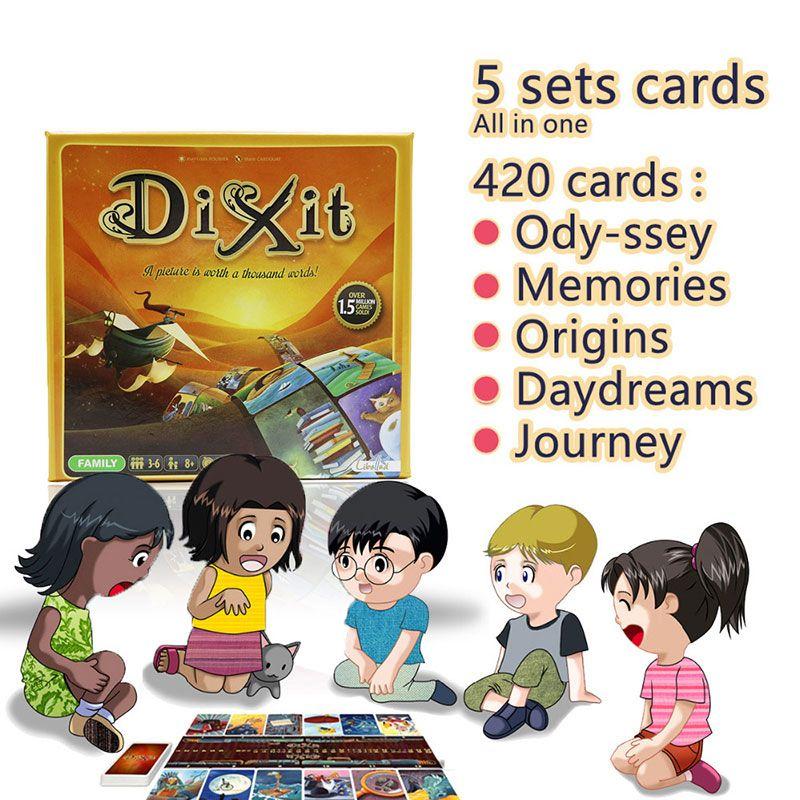 Карты игра Диксит английский настольная игра собрать 420 карт odassey/Ста/Путешествие/мечты/воспоминания подарочная коробка jogo Juego