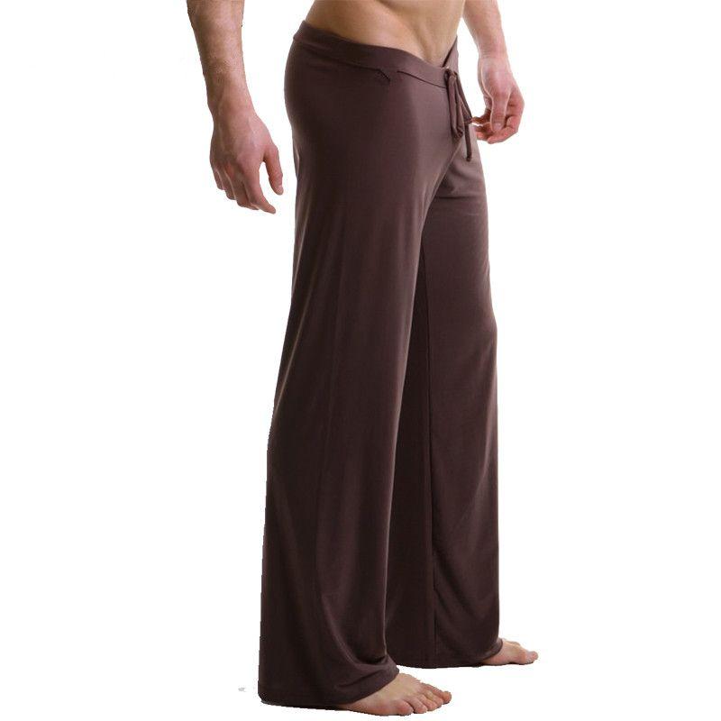 Сна Топы мужская повседневная брюки мягкие удобные мужские Днища Сна Домашней Одежды XL брюки пижамы Шнуровкой свободные Lounge одежда