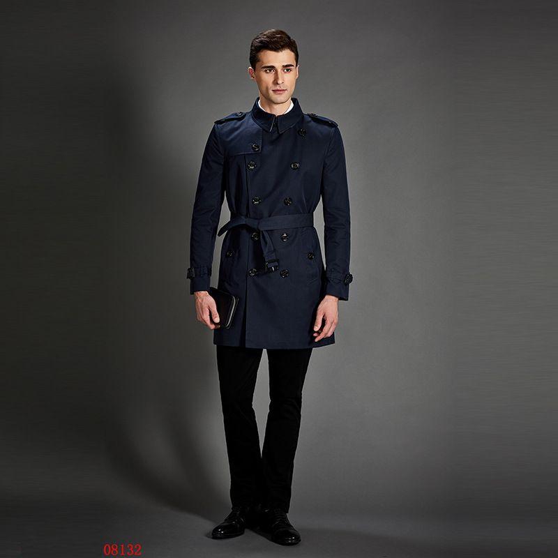 2018 neue Trenchcoat Männer Klassische Zweireiher Mens Lange mantel Masculino Herren Kleidung Lange Jacken & Mäntel Britischen Stil Overc