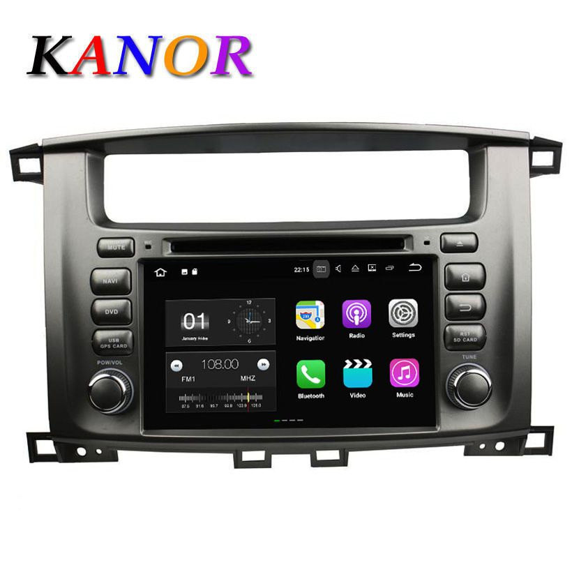 KANOR 1024*600 Android 7.1 2din Car Radio For Toyota Land Cruiser 100 2007 2008 2009 2010 2011 Autoradio Multimedia Audio Stereo