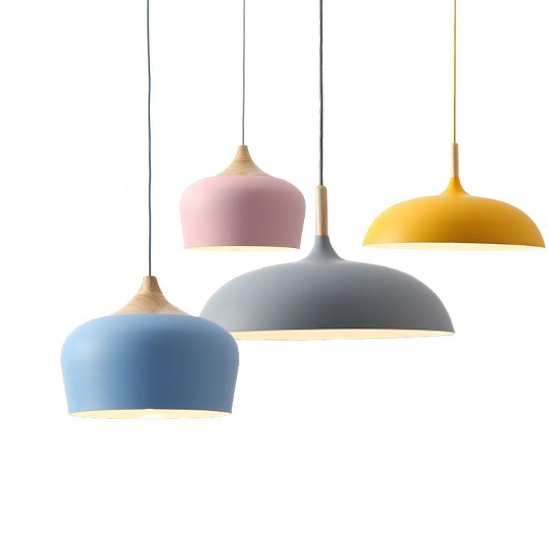 Nordic Pendant Light Fixtures Restaurant E27 Pendant Lamps Cafe Bar Macarons Lighting Hanging Lamps
