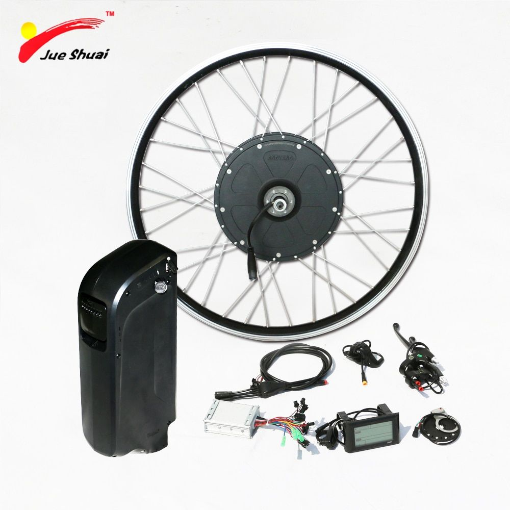 1000w Electric Bike Conversion Kit with 48V Battery Brushless Gear Hub Motor Wheel for 26