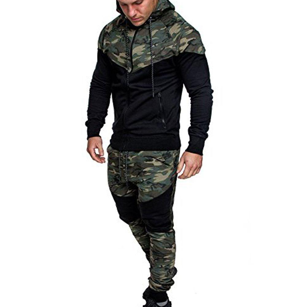 Feitong эстетику революция Для мужчин камуфляж Толстовки хлопок Для мужчин костюм свитер куртка Всесезонная свитер толстовка с капюшоном и бр...