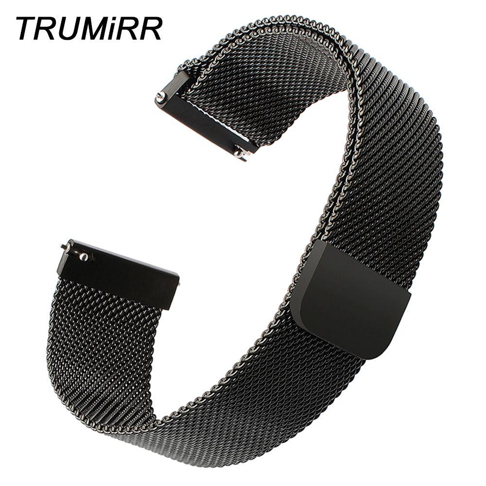 Bracelet de montre en acier inoxydable à boucle milanaise 14mm 16mm 18mm 20mm 22mm 24mm Bracelet de montre rapide Bracelet magnétique Bracelet universel