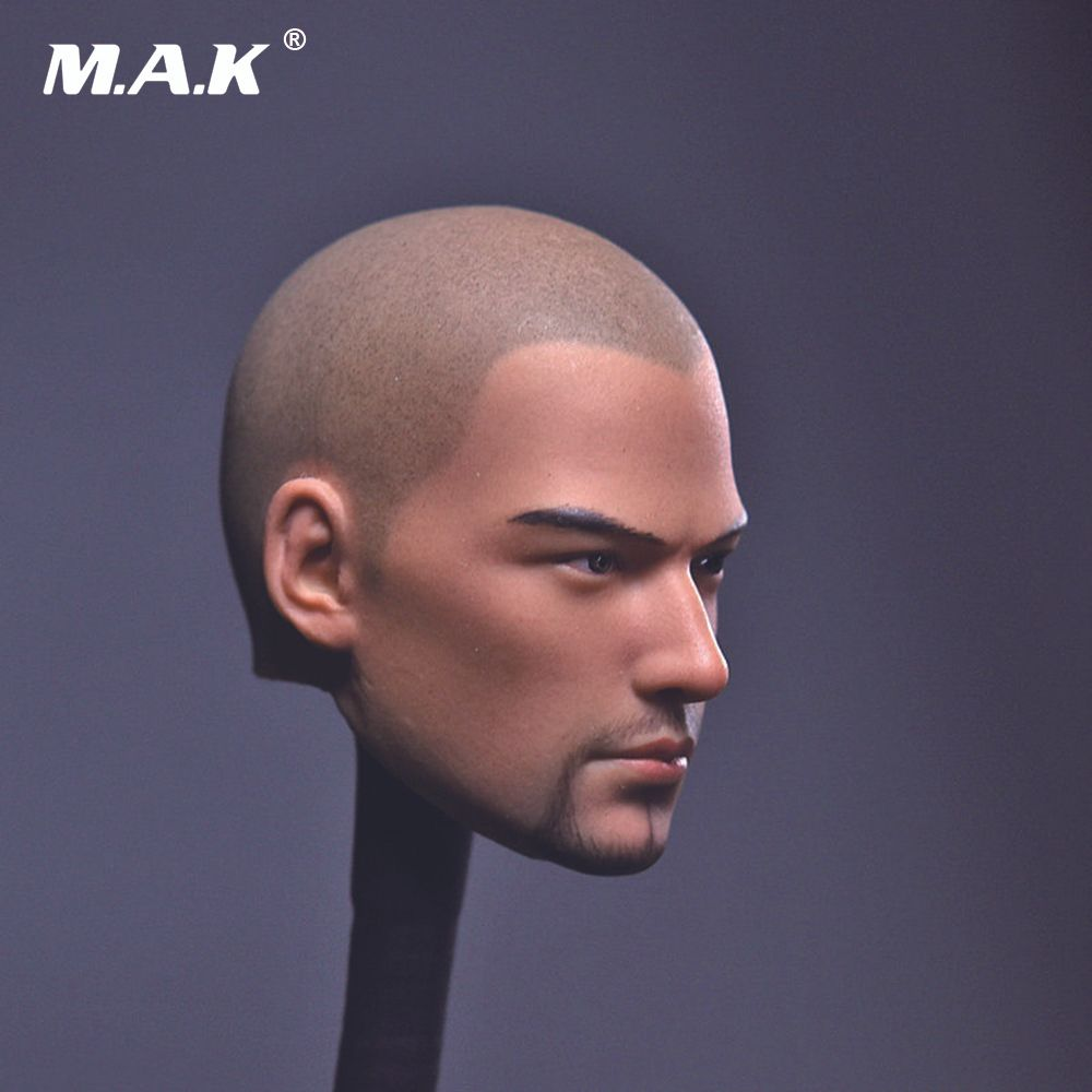 1/6 Scale Male Head Sculpt Tang Monk Asura Saint Bald Beard Version for 12 inches Man Action Figure