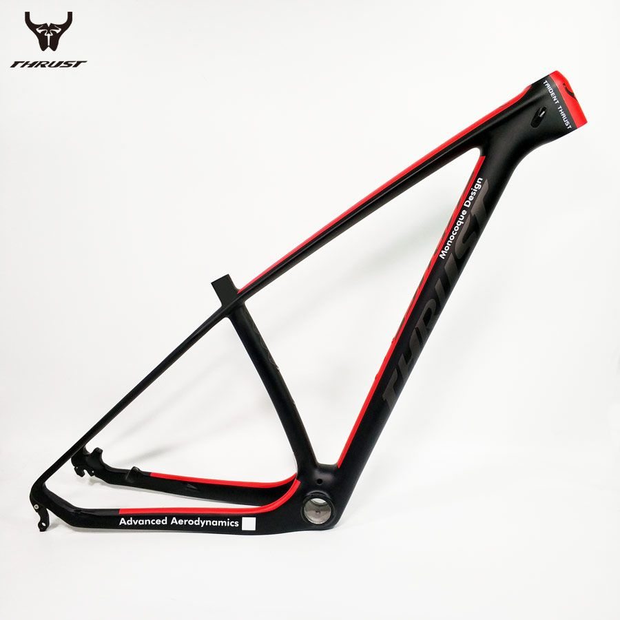THRUST Carbon Frame Mountain Bike 29er 27.5 Red Carbon mtb Frame Red T1000 Bicycle Frame 15 17 19 BSA BB30 System 2 Warranty