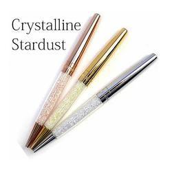Marque nouvelle Swarovski cristalline Stylo stardust stylo diamant À Bille Stylo pour le mariage bureau promoion papeterie cadeau livraison gratuite