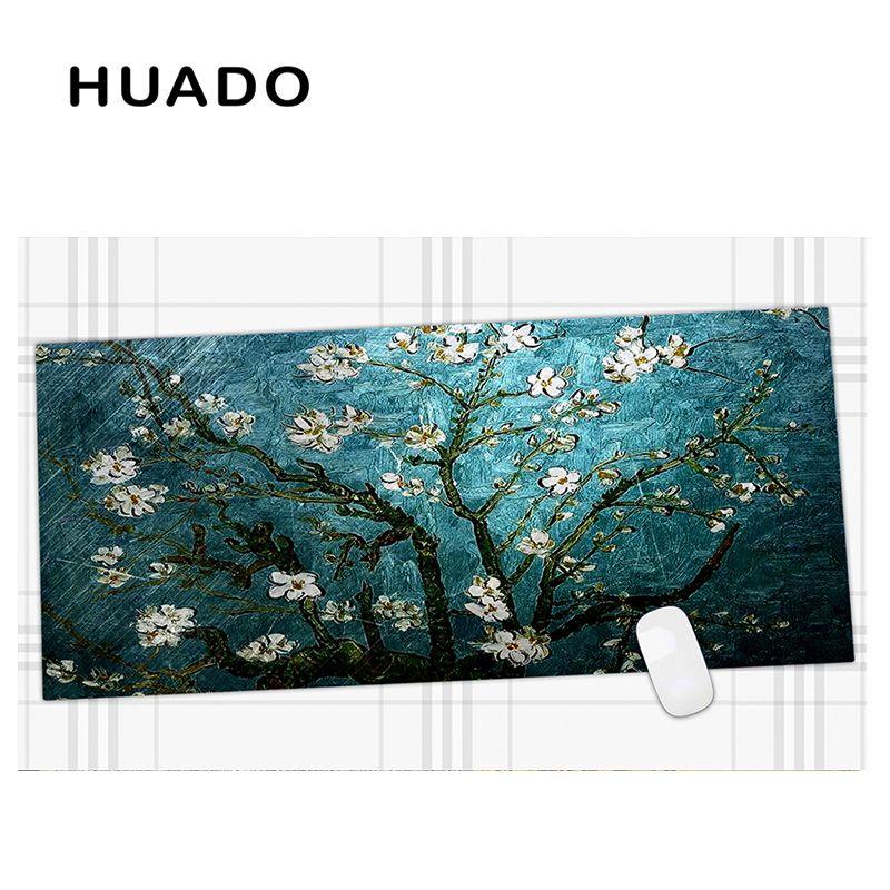 600x450mm fleurs bleues étendu tapis de souris de jeu grand tapis de souris grande taille tapis de bureau pour le travail de bureau/overwatch