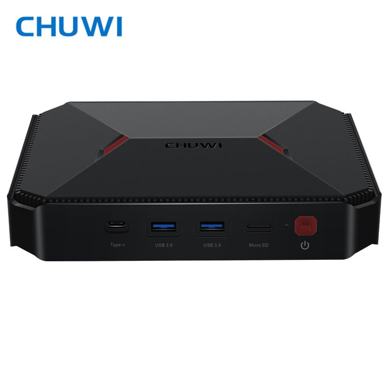 CHUWI Mini PC GBox Windows 10 Intel Gemini-Lake N4100 LPDDR4 4GB 64GB Dual Wifi 2.4G/5G Bluetooth 4.0 Mini Computer HDMI 2.0