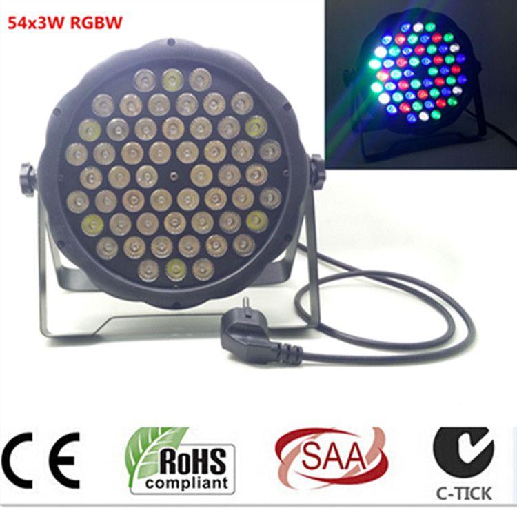 54x3 Вт LED PAR DJ Par RGBW Мыть дискотека светом dmx-контроллер Бесплатная доставка