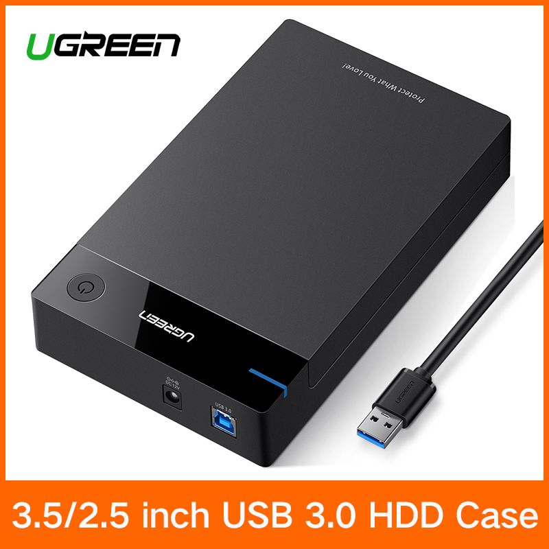 Ugreen 3.5 inch HDD Case SSD Adapter SATA to USB 3.0 for Hard Disk Drive Box 1TB 2TB 2.5 External Storage HDD Enclosure