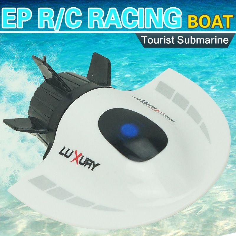 Velocidad de Radio Barco Eléctrico DEL RC Mini Submarino Turístico Crear Juguetes 3314 27 MHz Radio Submarino Barco de Regatas Barco de Control Remoto