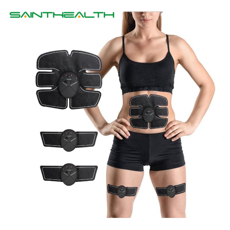 Abdominale machine électrique stimulateur musculaire ABS Formateur ems remise en forme perte de Poids Corps minceur De Massage avec blanc boîte de détail