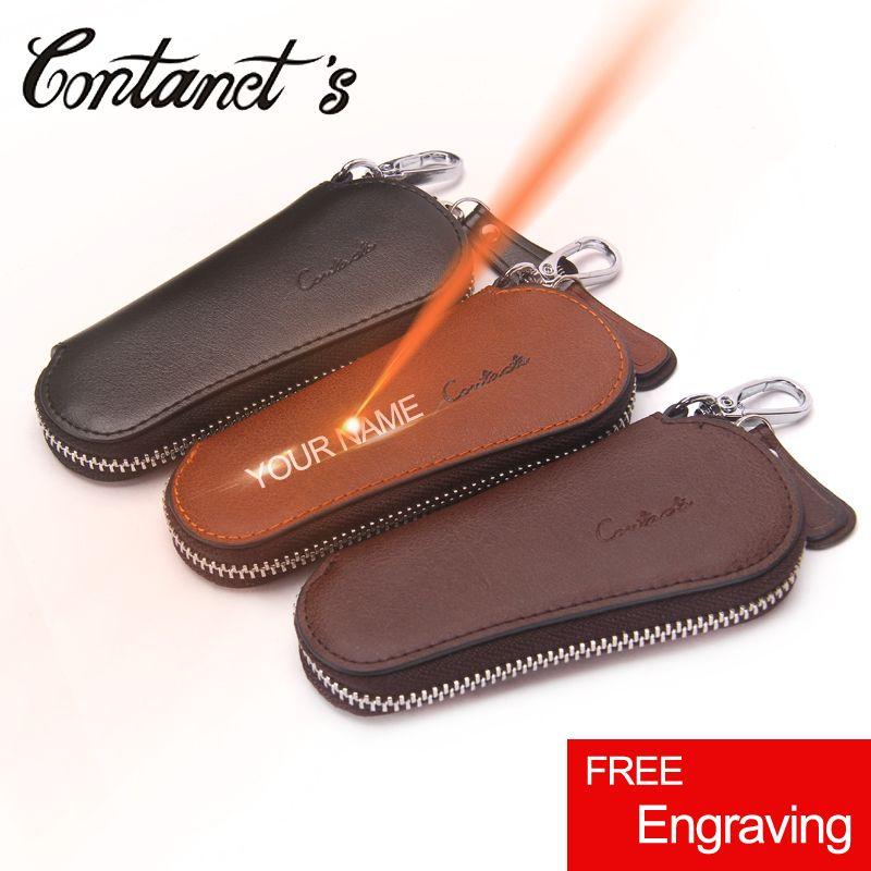 Винтаж ключ Организатор настоящий кожаный бумажник ключа для Для мужчин высокое качество Ключи держатель Элитный бренд молния вокруг Поду...