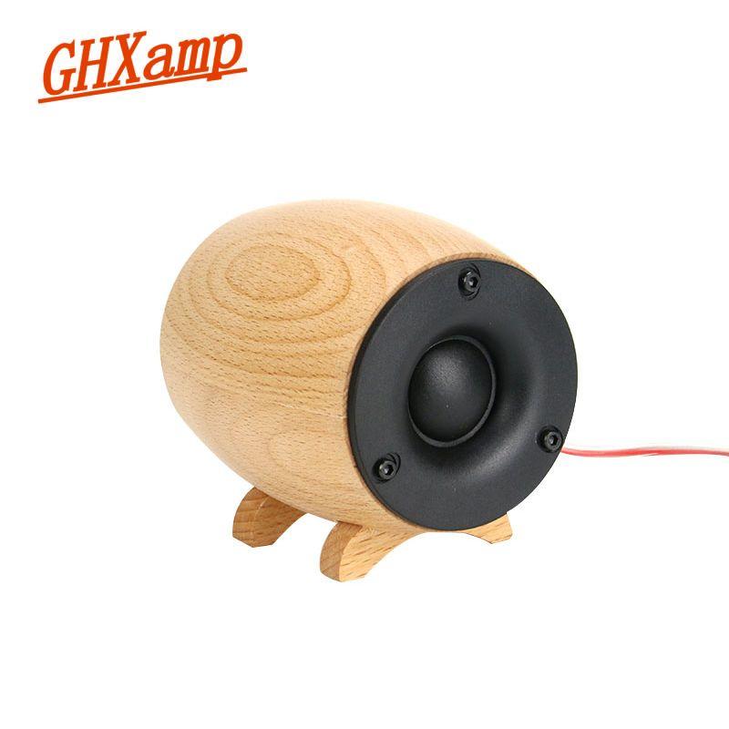 GHXAMP 2 pièces haut-parleur de Tweeter HIFI en bois massif Super aigus boîte de son Home cinéma KTV gamme complète Tweeter Compensation néodyme