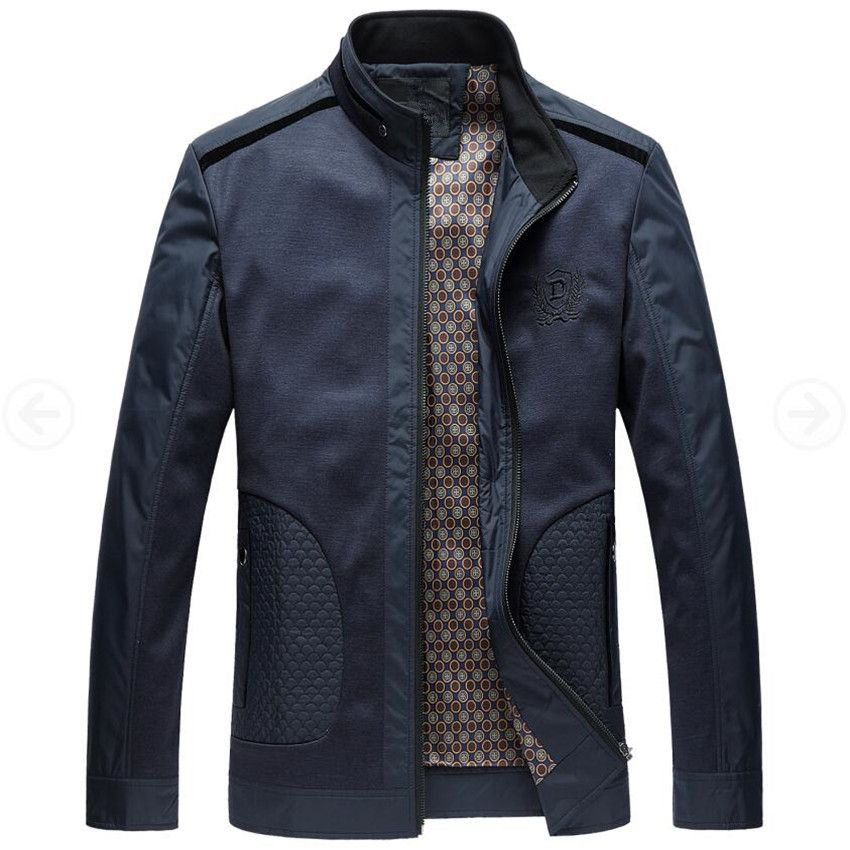 Men Jacket 2017 New Fashion Veste Homme Business Spring Jacket Thin British Style Men Jackets Male Stand Collar Autumn Coats 4XL