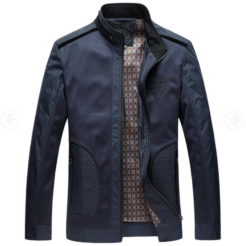 Men Jacket 2017 New Fashion Veste Homme Business Spring Jacket Thin British Style Men Jackets Male Stand Collar Autumn Coats 4XL