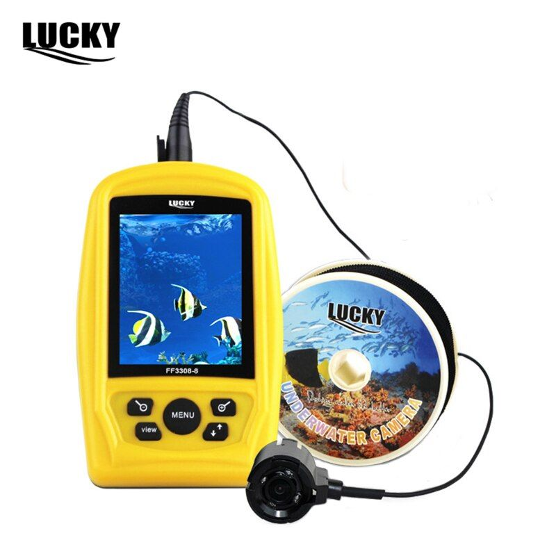 Lucky Brand Portable Underwater Sea Fishing Inspection Camera 20m Cable Fish Finder 3.5inch Colorful RGB Waterproof Monitor