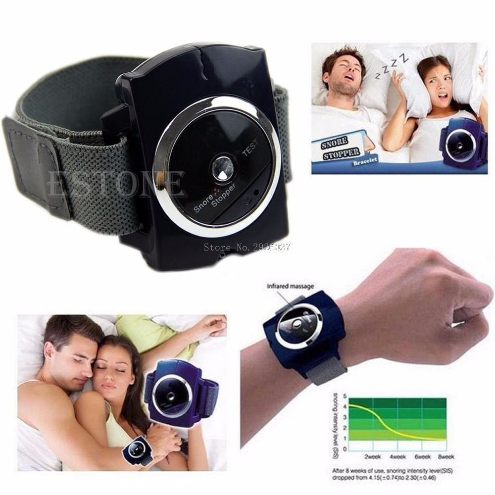 Infrared Intelligent Anti Snore Wristband Watch Stop Snore Solution Sleeping Aid -B118
