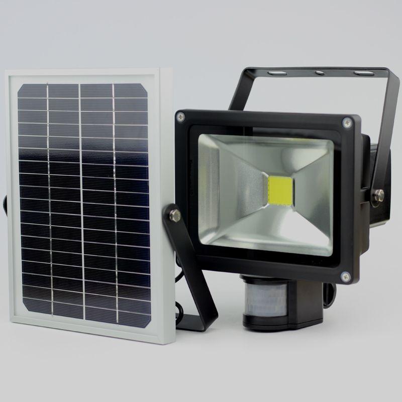 2019Hot ventes 20 W lumière de jardin solaire avec capteur de mouvement détecté LED lumière d'inondation IP65 CE ROHS approuvé