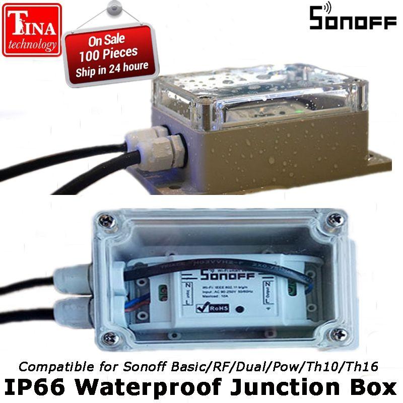 Sonoff IP66 Wasserdichte Anschlussdose wasserdicht Shell Wassergehäuse Unterstützung Sonoff Grundlegende/RF/Dual/Pow für Weihnachtsbaum-leuchten