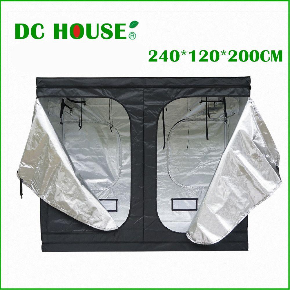 DC HAUS 240*120*200 cm 94 x 47 x 79 Hydroponics Pflanzen Wachsen Mini Gewächshaussystem Dunklen Raum Garden Farm Hydroponischen