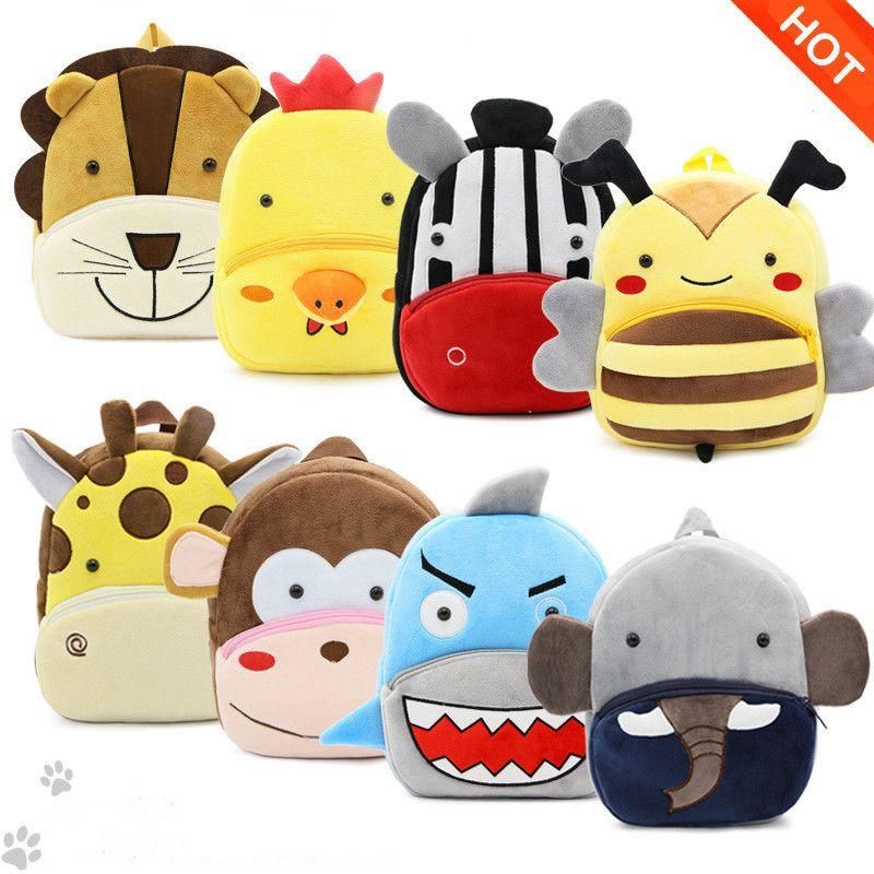 Factory Outlet Kids Animal Backpacks Baby Girls Boys Cute Schoolbag Children Cartoon Bookbag Kindergarten Toys Gifts School Bags