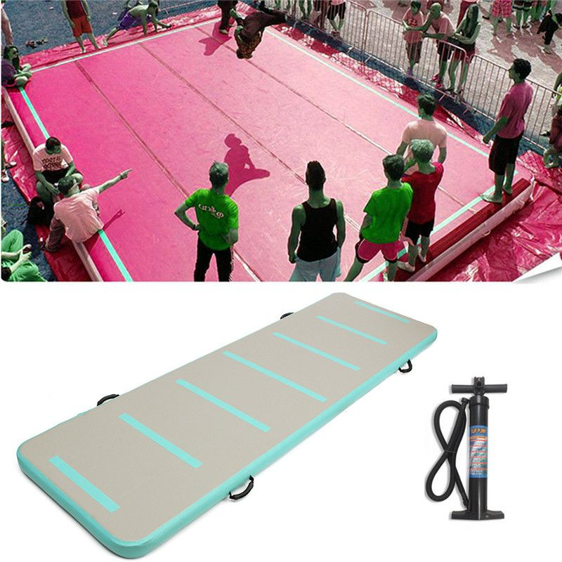 New Arrival Inflatable Air Track Floor Home Gymnastic Cheerleading Tumbling Mat GYM with Hand Pump