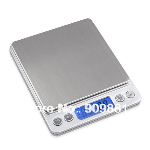 3000g 0.1g Balance de poche numérique 3 kg 0.1 Balance de cuisine électronique bijoux alimentation banc Balance de poids avec deux plateaux 4 unités